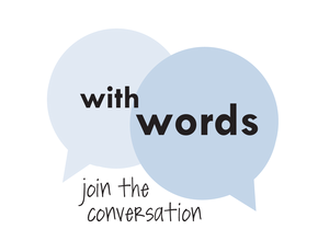 "With Words logo ""join the conversation"""