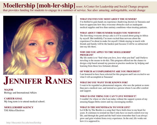 Jennifer Ranes Moellership Profile