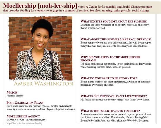 Amber Washington Moellership Profile
