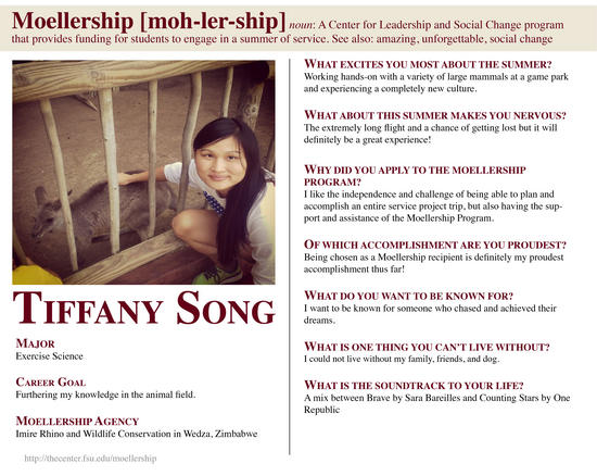 Tiffany Song Moellership Profile