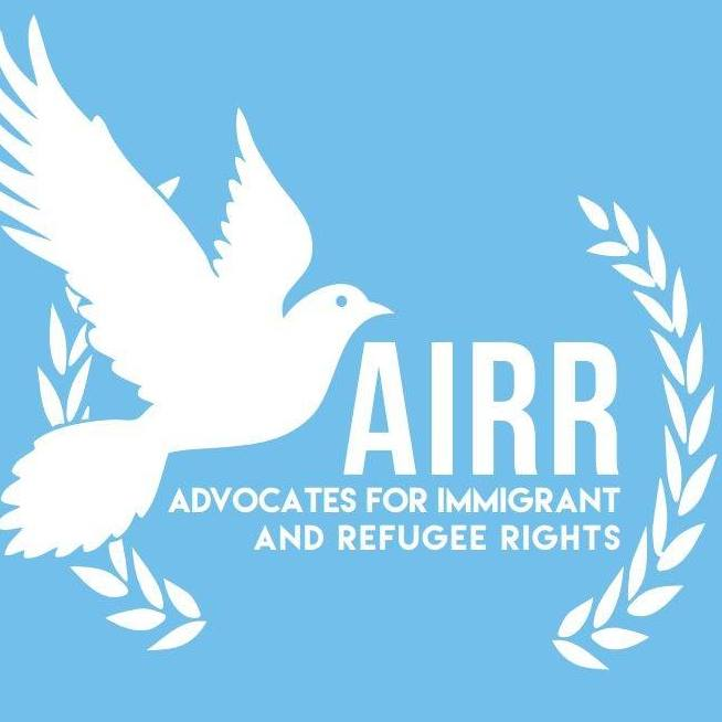 White Dove graphic and AIRR Advocates for Immigrant and Refugee Rights