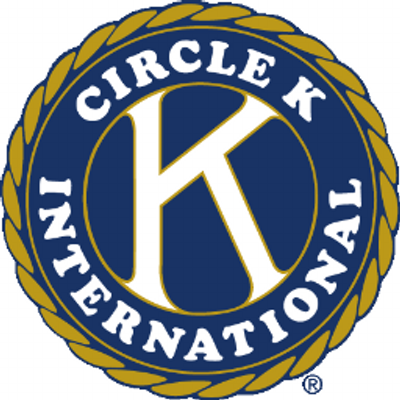 Round graphic with a K in the center with Circle K Interational around it