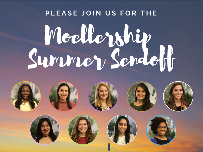 IMAGE: Moellership Summer Sendoff with nine portraits of recipients