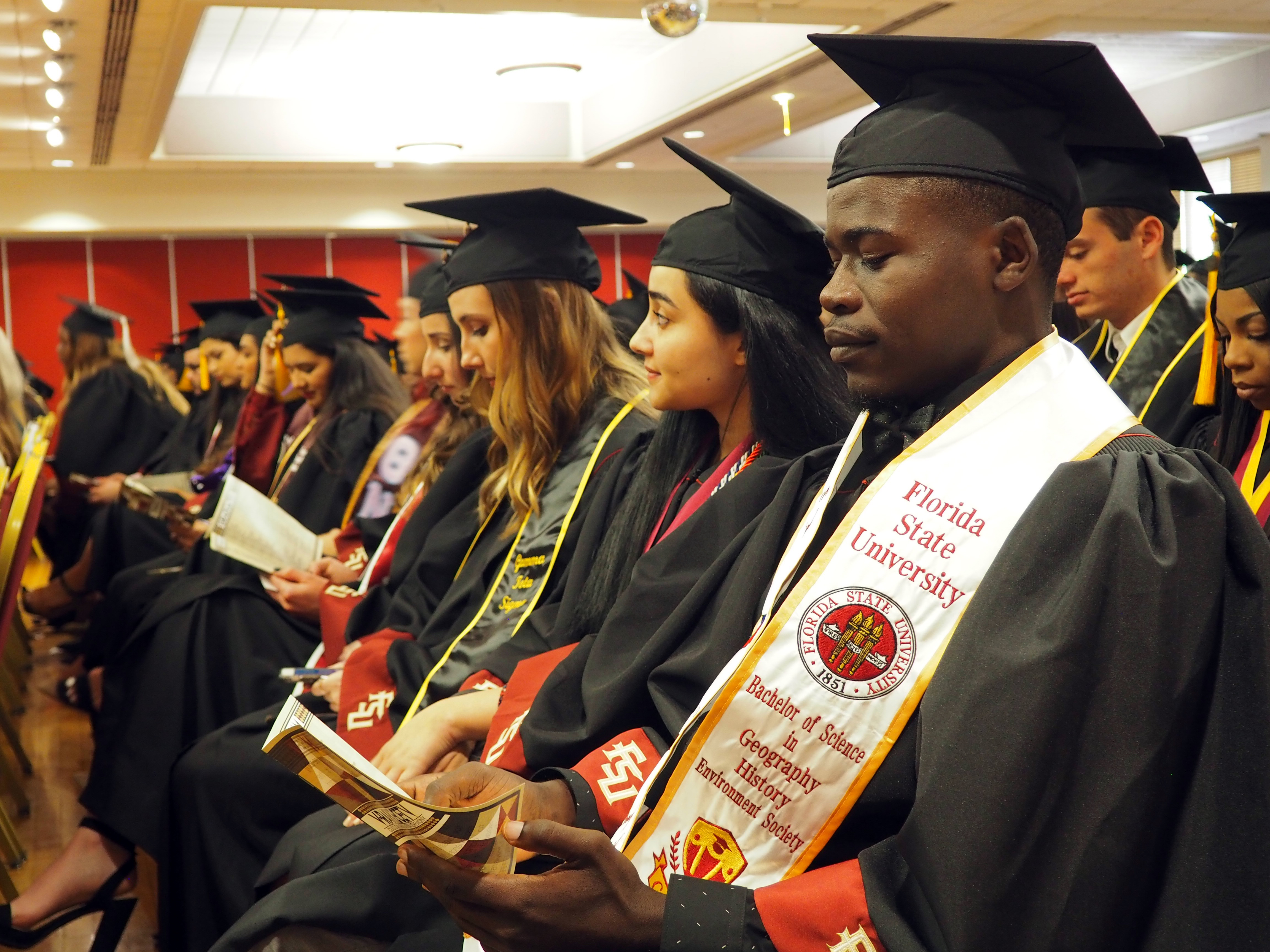 Graduates seated during the spring 2018 cultural graduation ceremony.