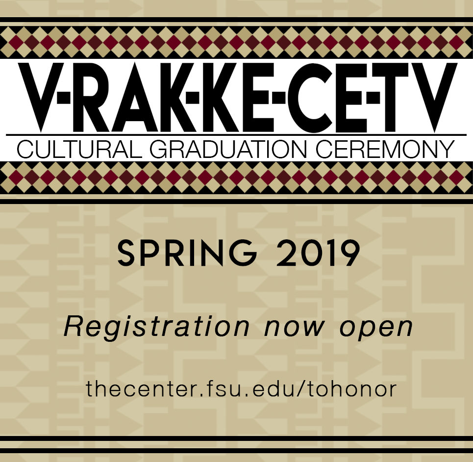 LOGO: V-rak-ke-ce-tv Cultural Gradaution Ceremony. Spring 2019 registration now open