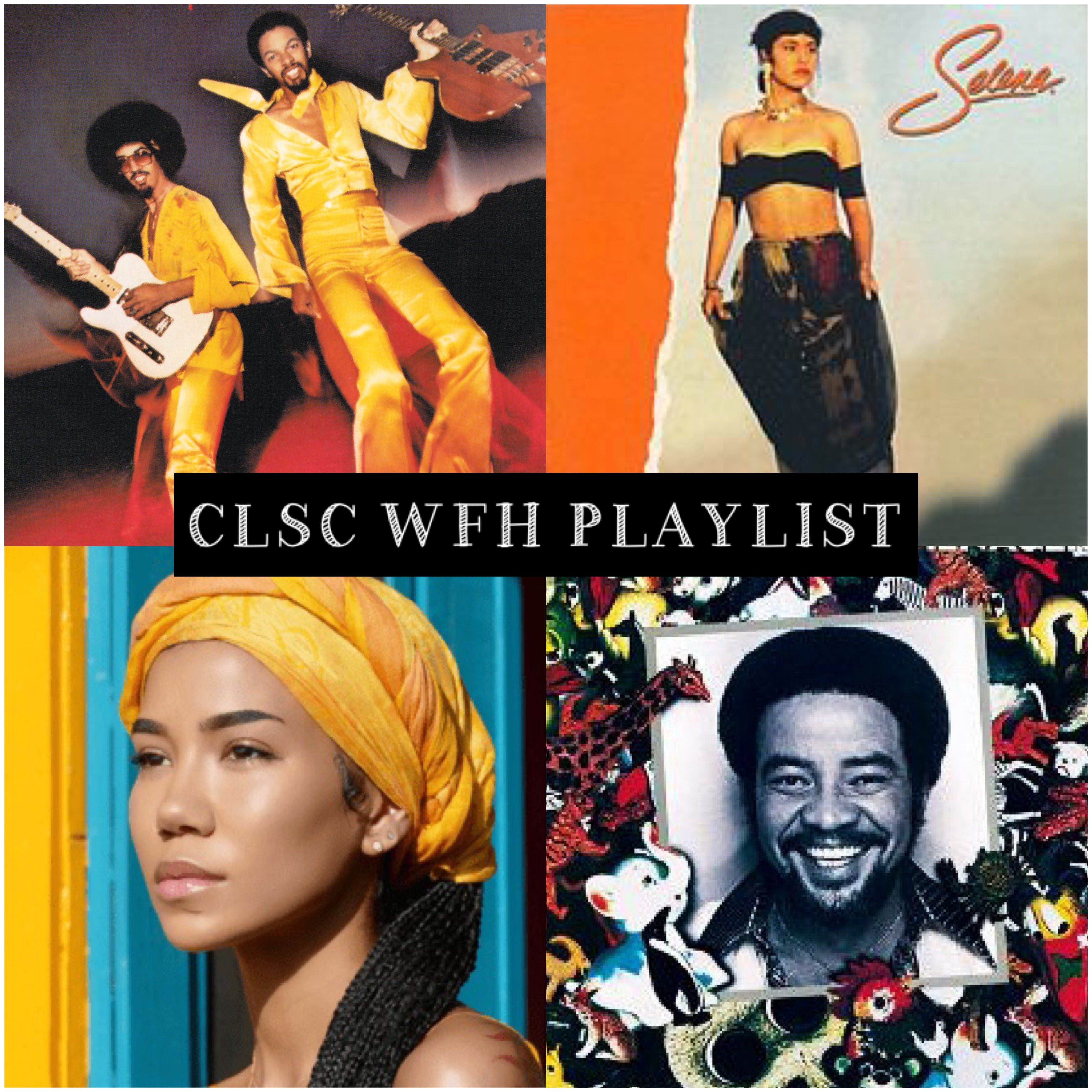 image shows album covers for Brothers Johnson, Selena, Jhene Aiko and Bill Withers