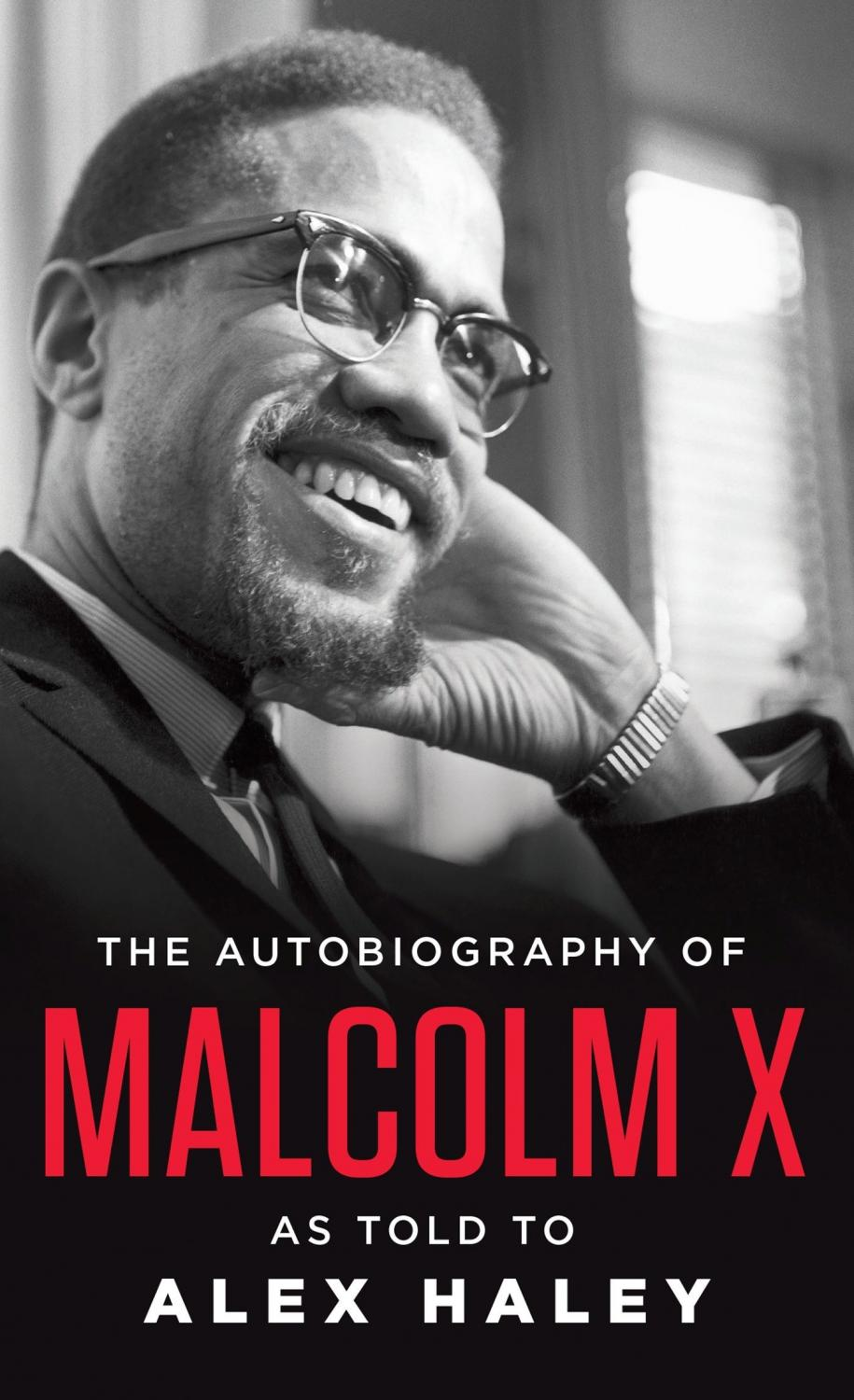 Book cover of The Autobiography of Malcom X