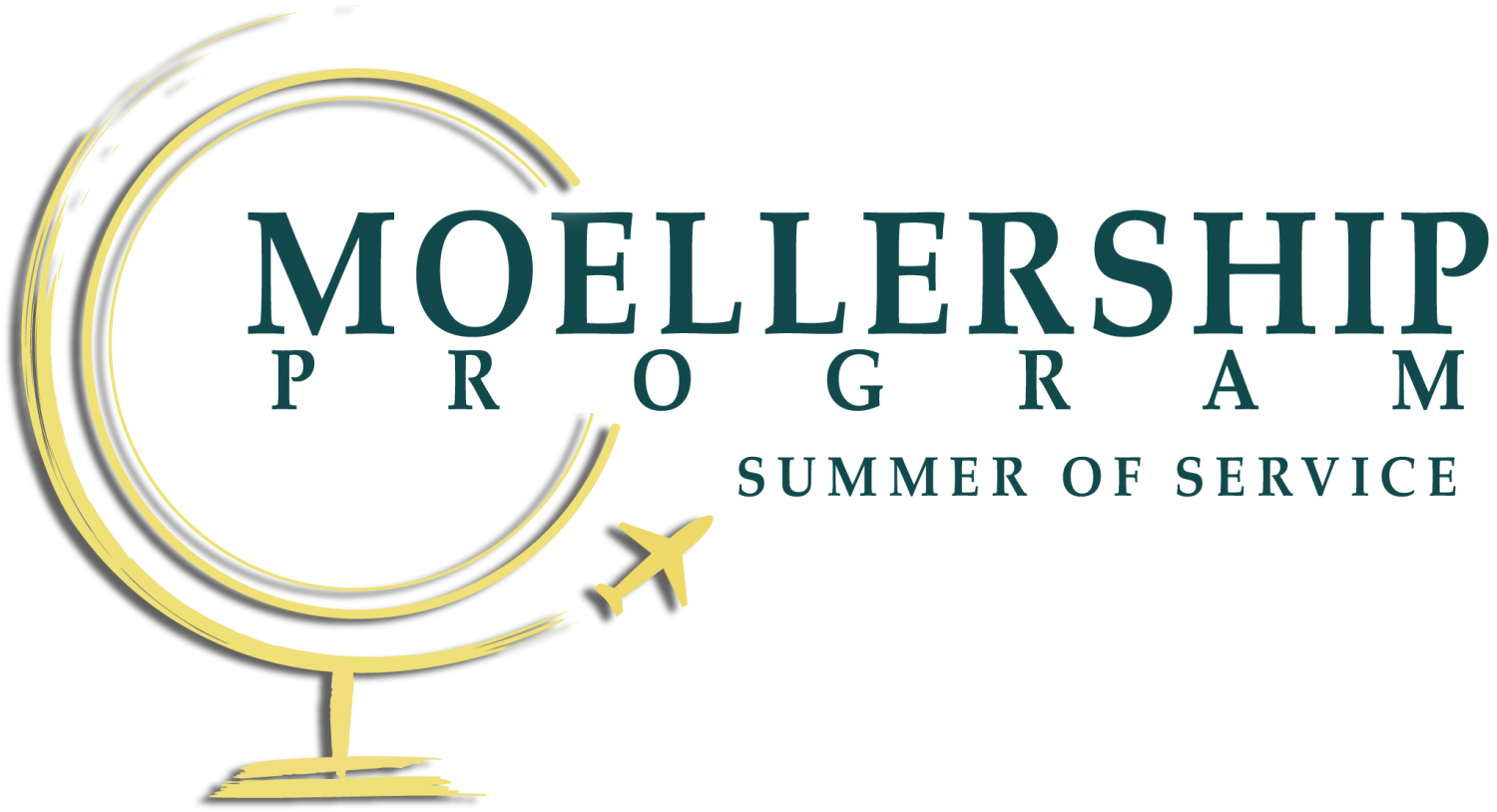 "IMAGE: gold globe with words ""Moellership Program: Summer of Service"""